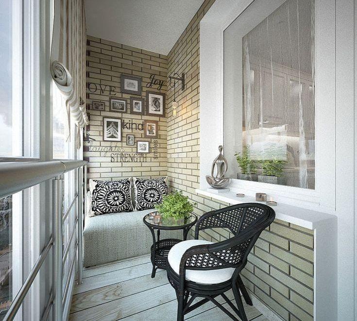 41 фото Интерьер балкона в стиле Лофт
