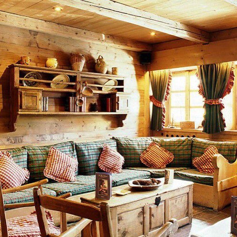 (+62 фото) Интерьер гостиной в стиле кантри
