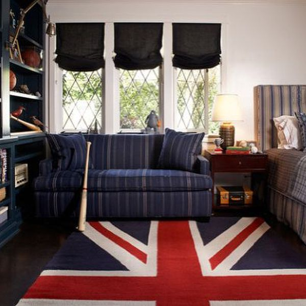 (+50 фото) Интерьер гостиной в английском стиле