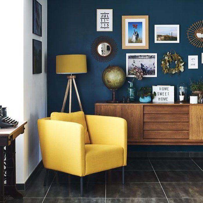 (+51 фото) Горчичный цвет в интерьере гостиной