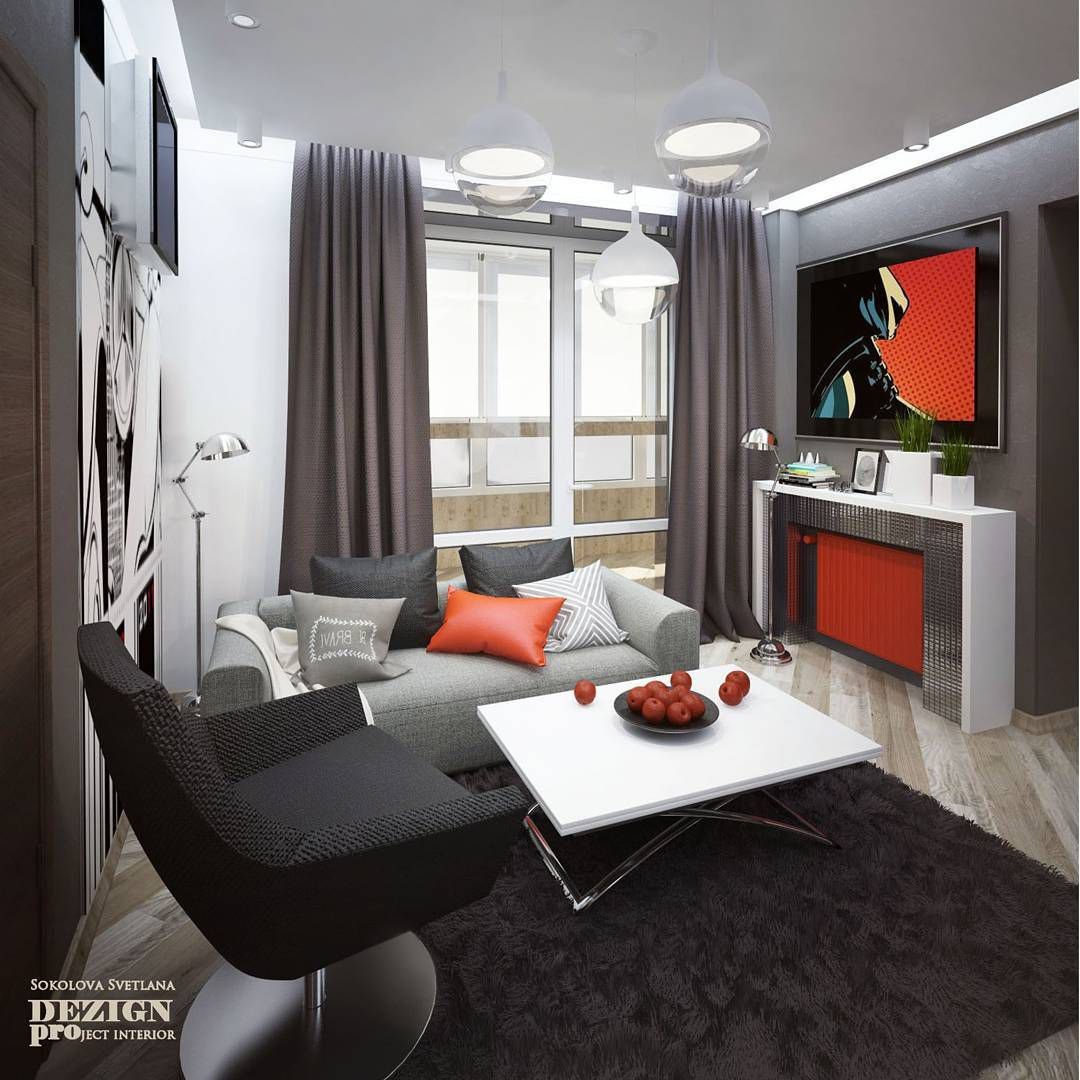 (+70 фото) Интерьер гостиной 16 кв м