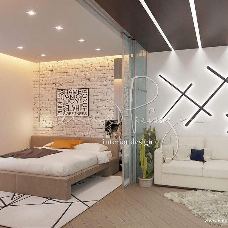 50 фото кирпич в интерьере спальни