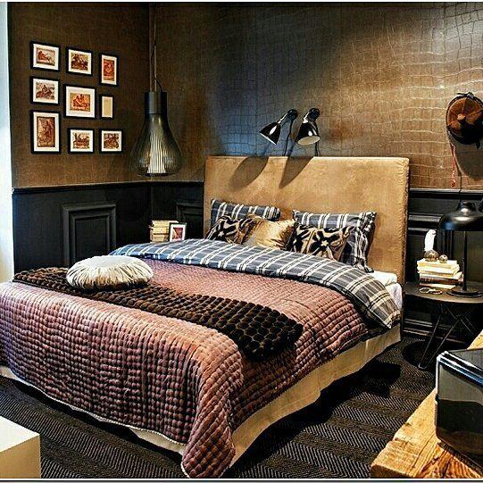 (+90 фото) Коричневые спальни в интерьере