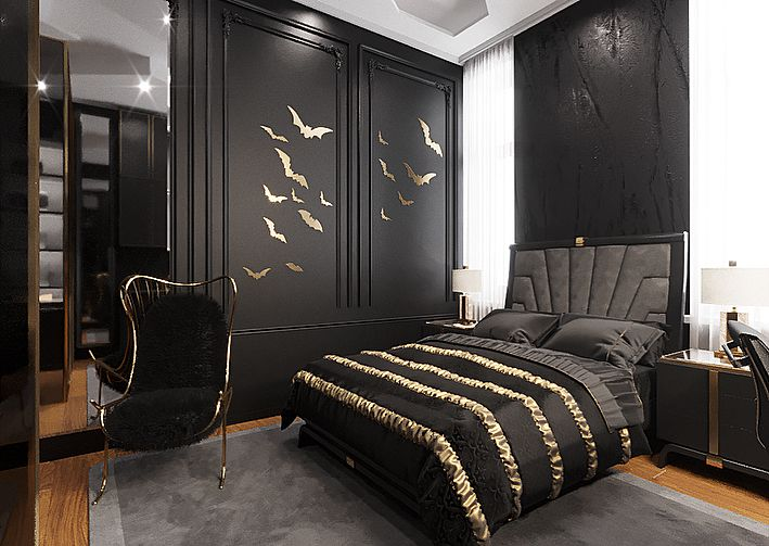 (+50 фото) Полки в интерьере спальни