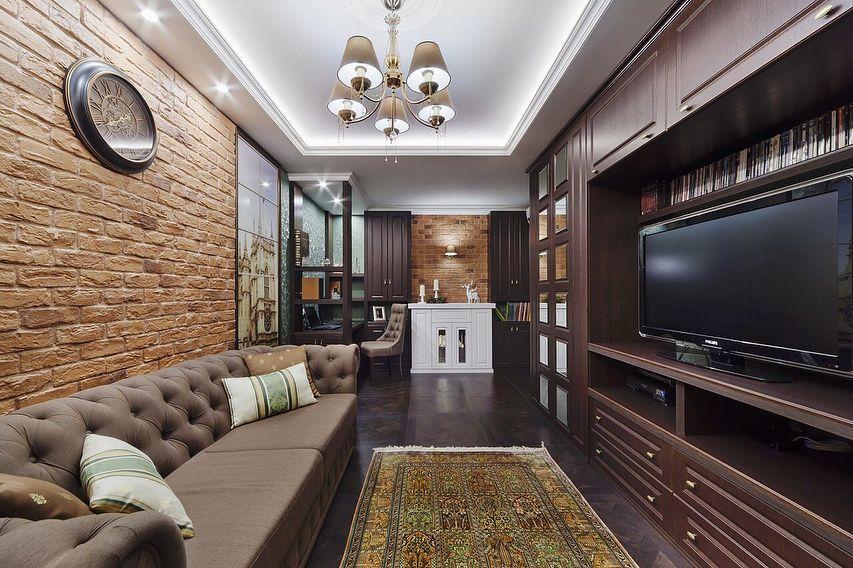 (+77 фото) Интерьер гостиной 20 кв м