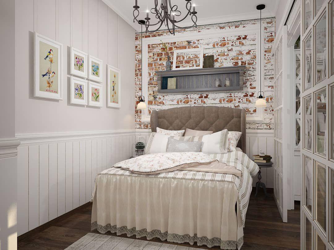 (+60 фото) Интерьер спальни кантри