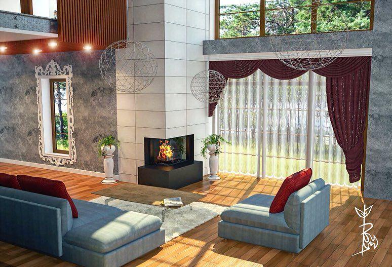 (+55 фото) Угловые электрические камины в интерьере гостиной