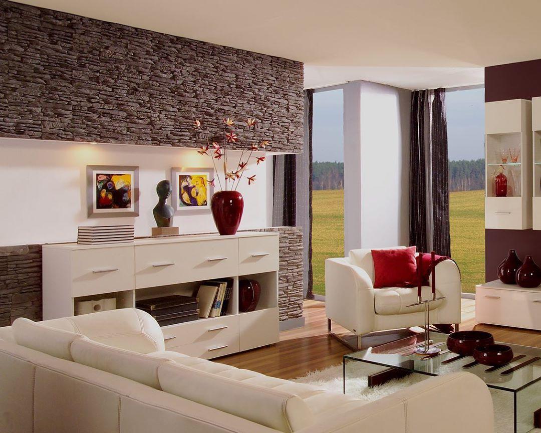 52 фото декоративный камень в интерьере гостиной