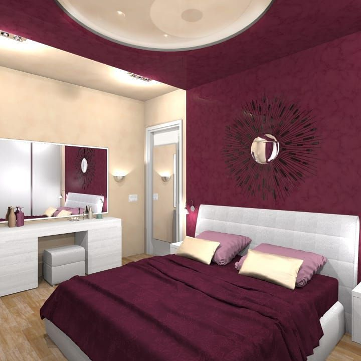 30 фото бордовый интерьер спальни