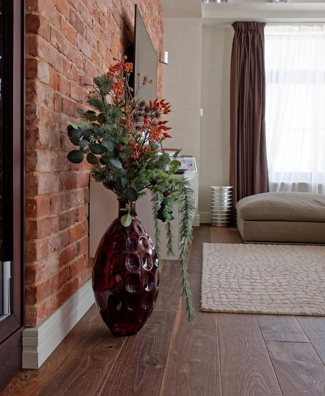 (+52 фото) Декоративный кирпич в интерьере гостиной