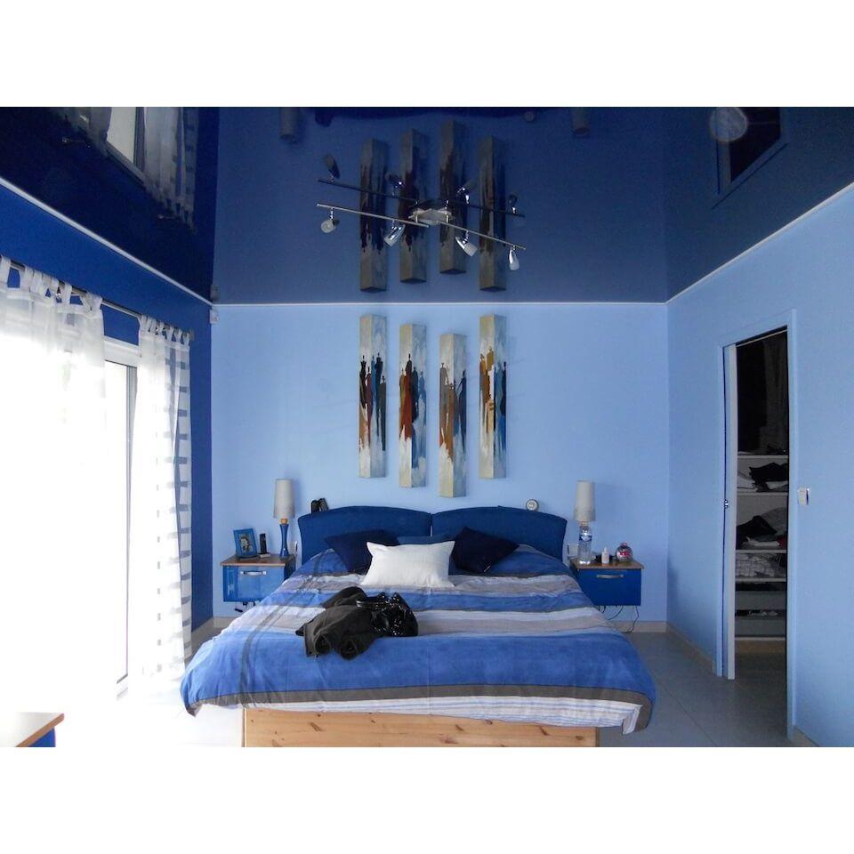 (+60 фото) Интерьер потолка в спальне