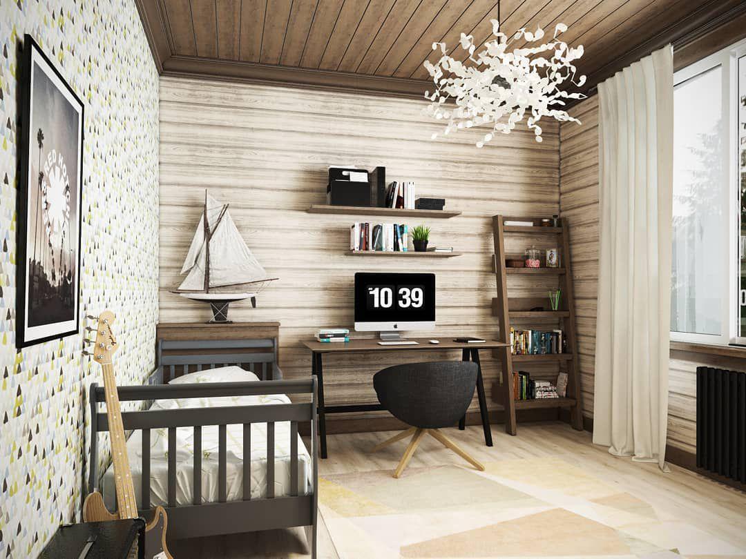 (+100 фото) Интерьер спальни для мальчика