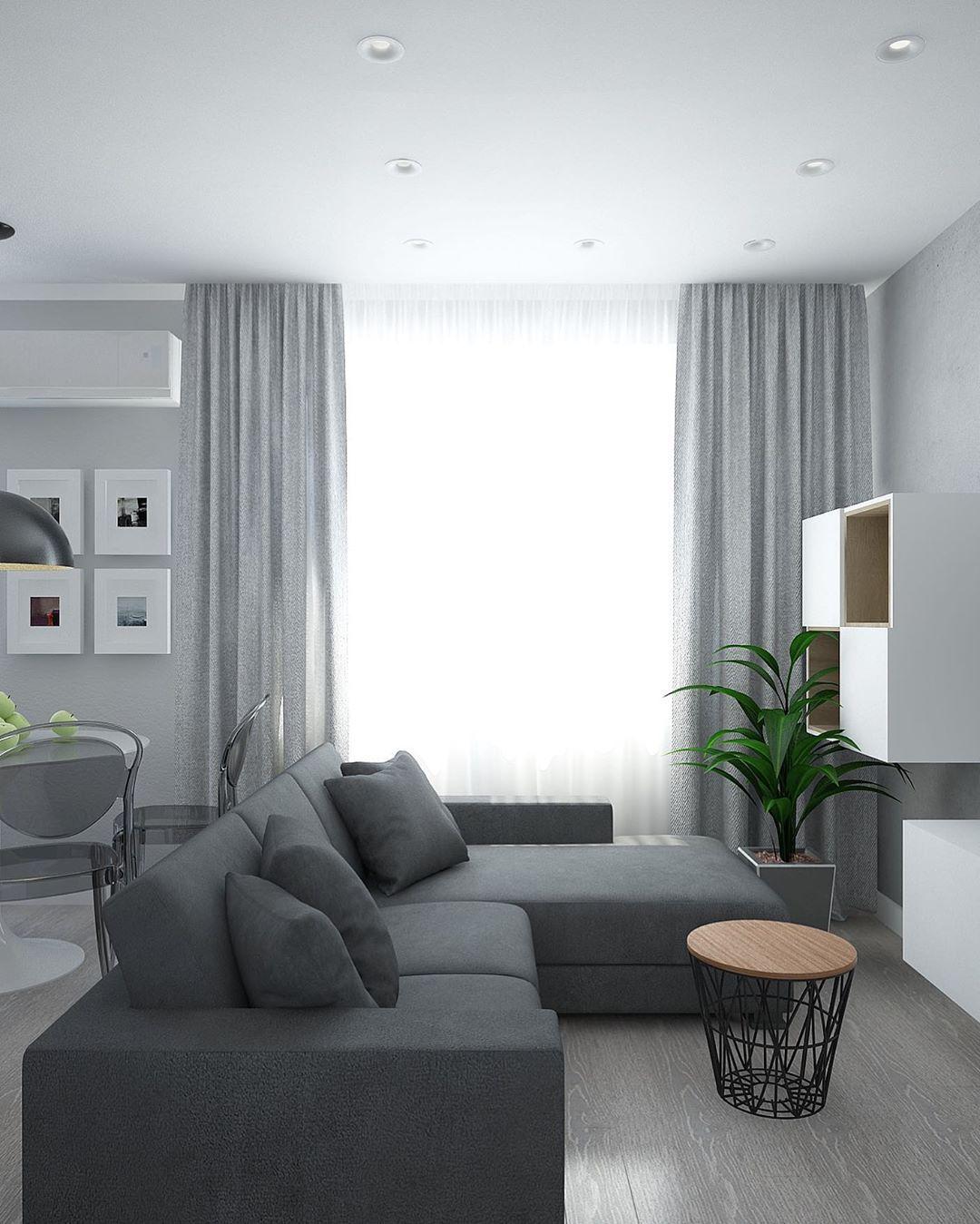 (+75 фото) Минимализм в интерьере гостиной