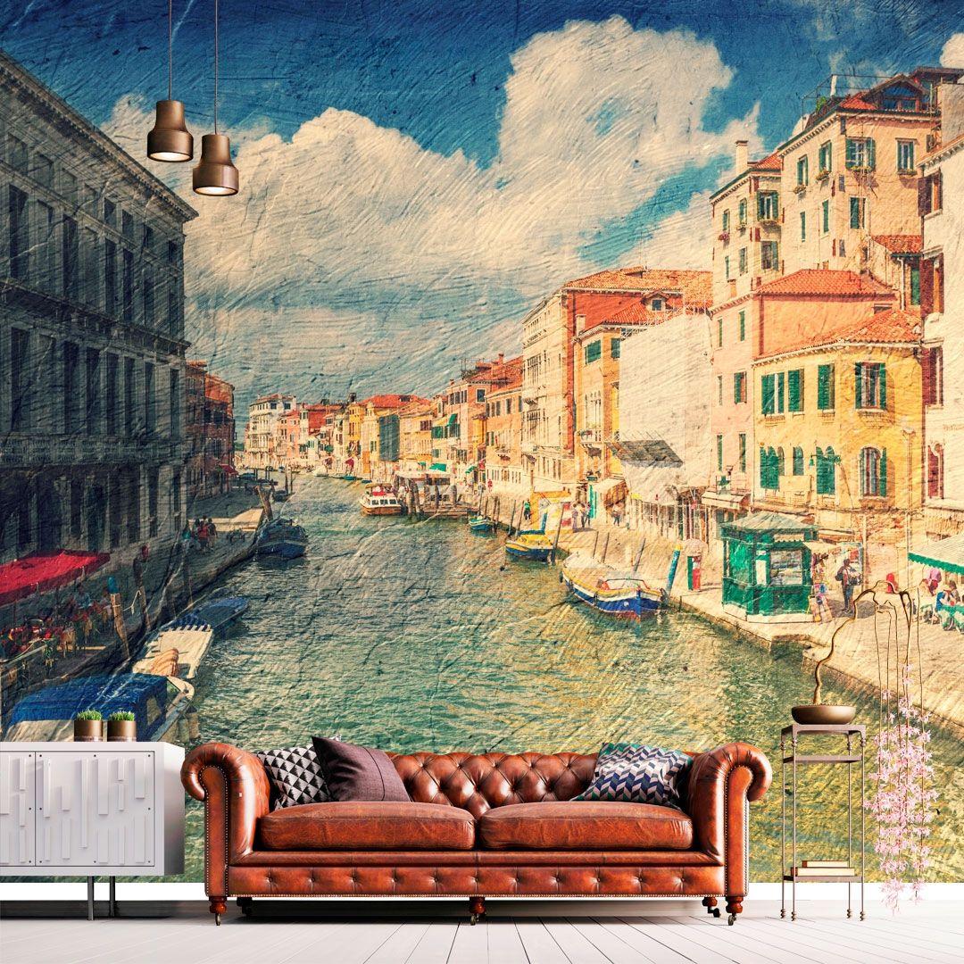 (+70 фото) Фотообои расширяющие пространство в интерьере для гостиной