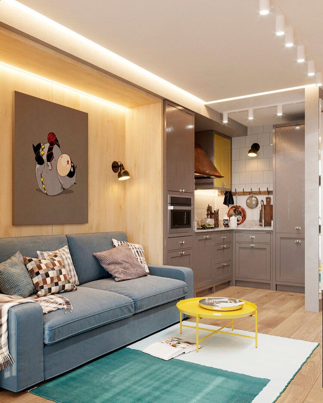 70 фото дизайн интерьера гостиной совмещенной с кухней