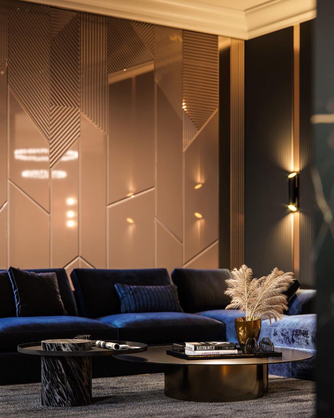 43 фото синий диван в интерьере гостиной