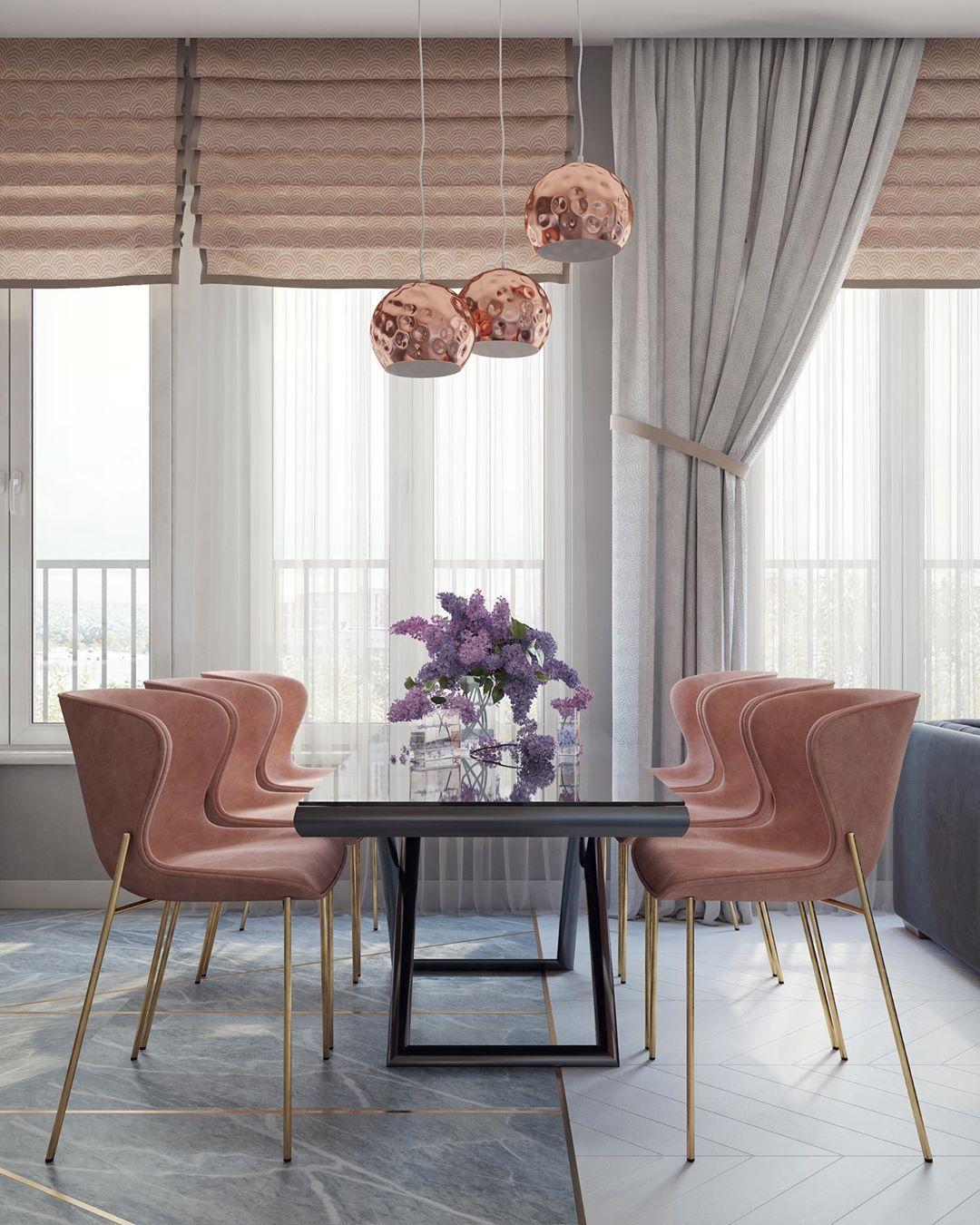 (+55 фото) Интерьер гостиной розового цвета