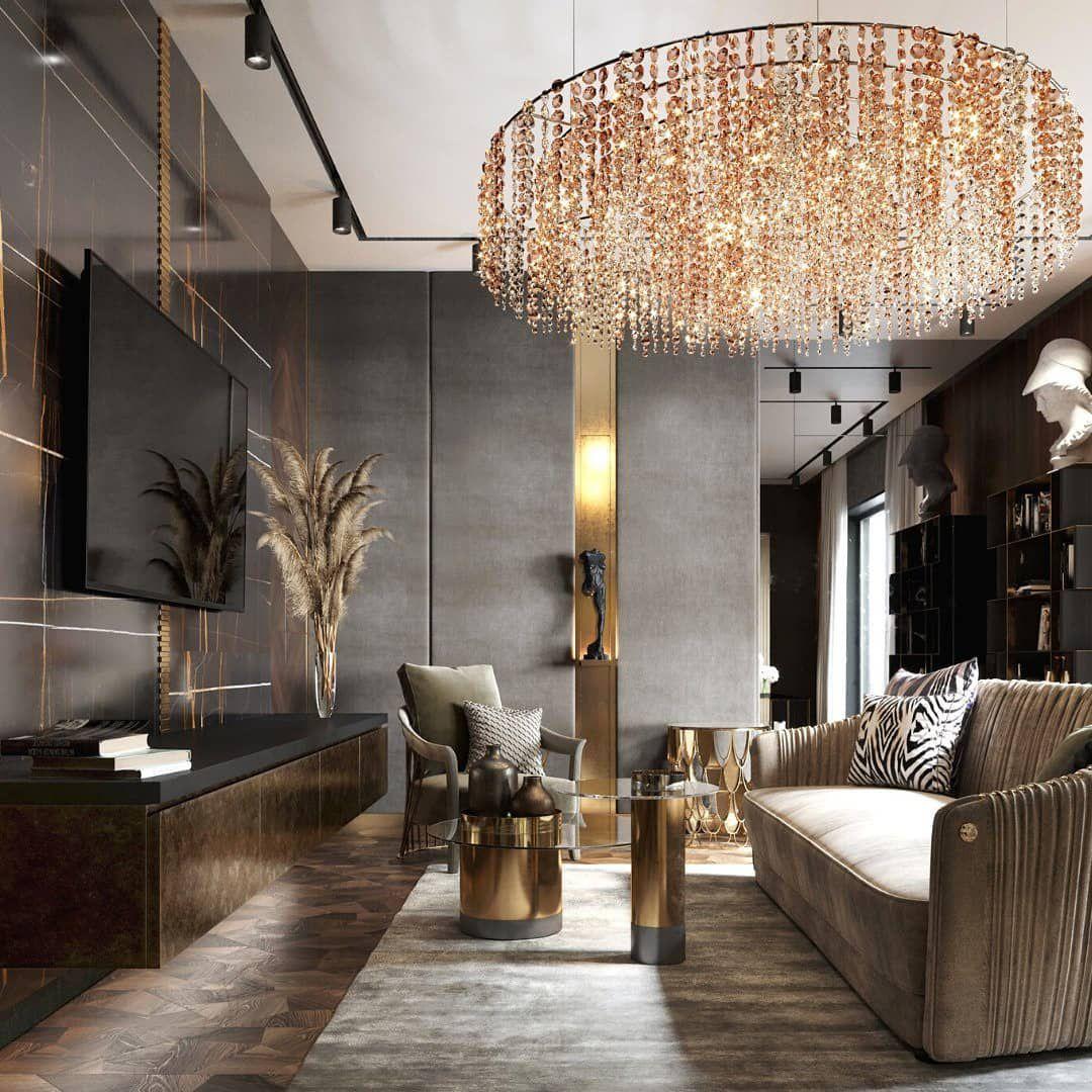 70 фото люстры в интерьере гостиной