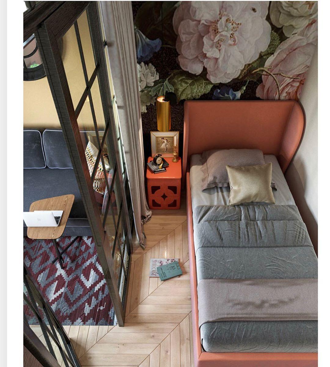 (+55 фото) Интерьеры спален 9 кв