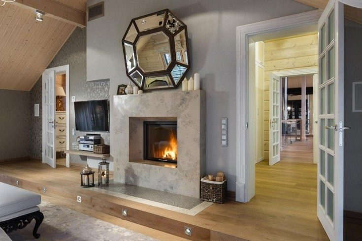 (+110 фото) Одноэтажные финские деревянные дома фото интерьер внутренний