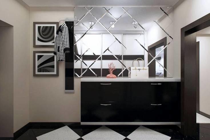 (+59 фото) Зеркальная плитка в интерьере фото