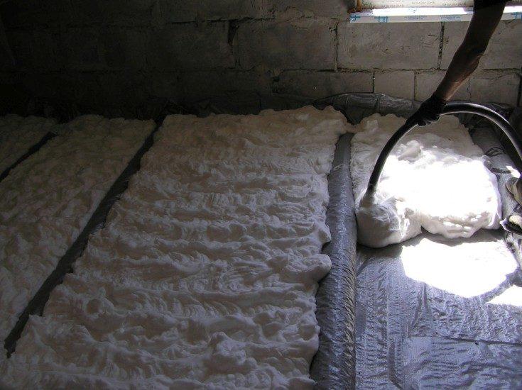 (+78 фото) Утепление пола в деревянном доме
