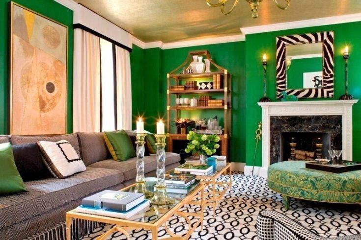 (+40 фото) Зеленые обои в интерьере