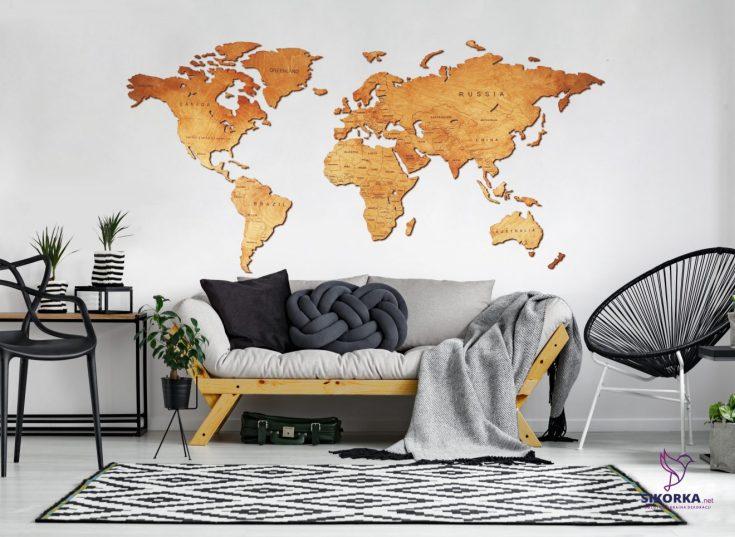 (+40 фото) Карта в интерьере