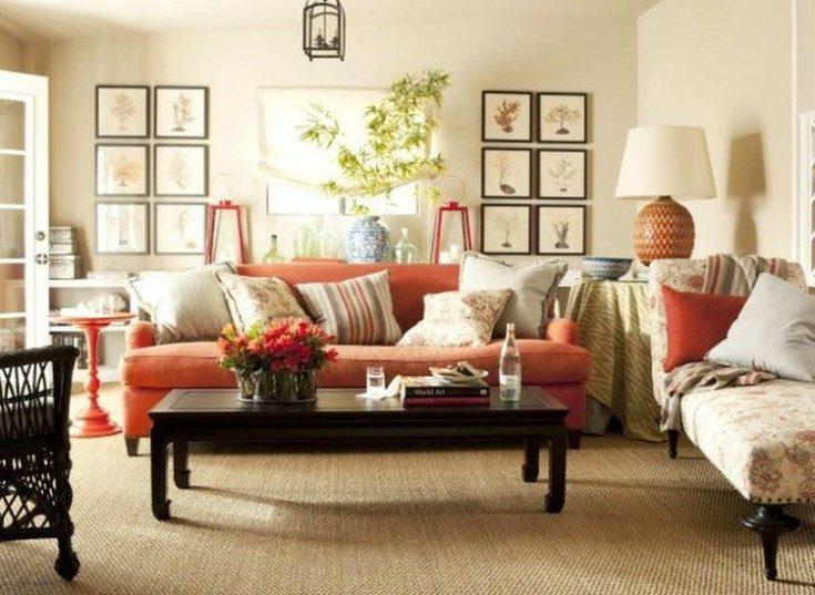 Сочетание цветов в интерьере персиковый цвет