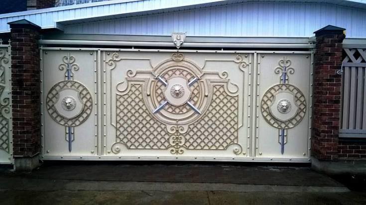(+89 фото) Красивые ворота для частных домов