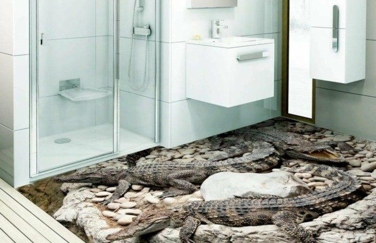 Наливные полы 3D в интерьере квартиры