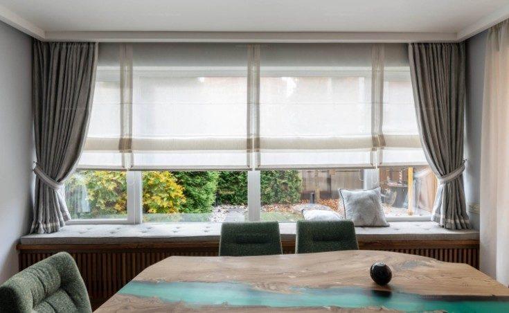 Короткие шторы до подоконника: размещение и разновидности