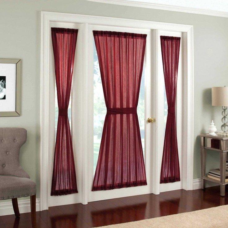 (+66 фото) Оформление дверного проема без двери шторами
