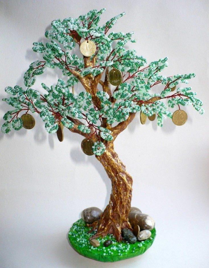 (+118 фото) Деревья из бисера своими руками пошагово