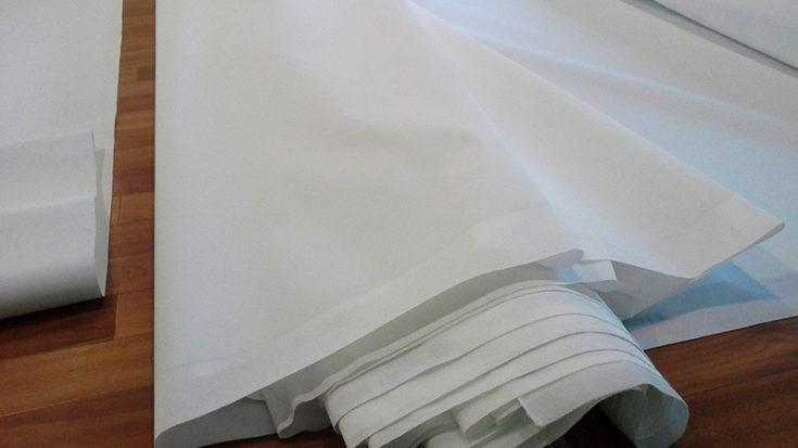 (+43 фото) Белый матовый натяжной потолок
