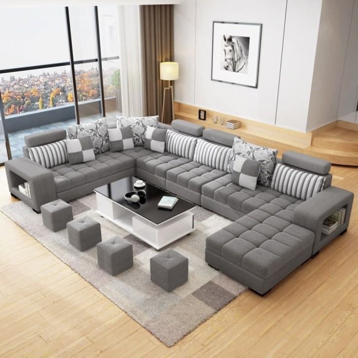 Виды оригинальных угловых диванов для гостиной 54 фото