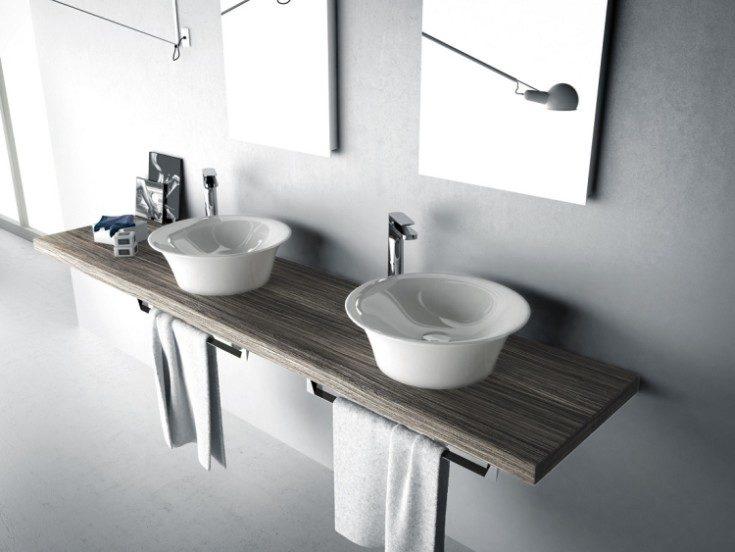 Столешница для ванной: цвета, формы, размеры