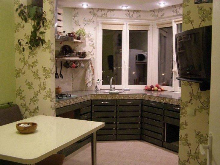 Кухня с барной стойкой буквой п