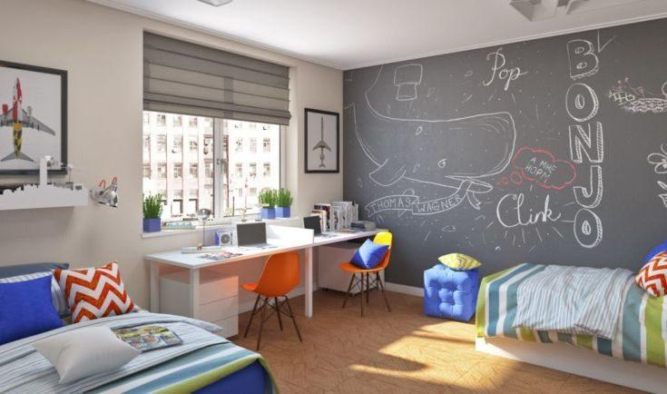 (+50 фото) Детская со столом у окна рабочая зона для школьника
