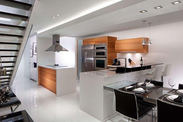 (+40 фото) Кухонный гарнитур в интерьере