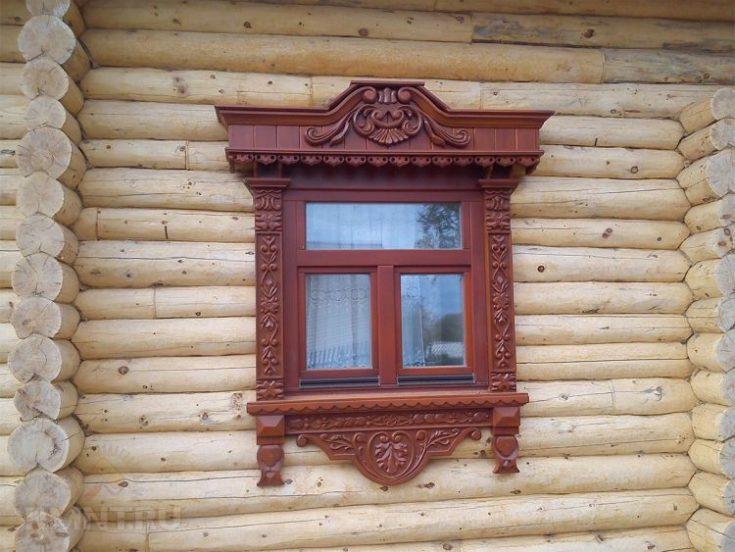 (+121 фото) Наличники на окна в деревянном доме