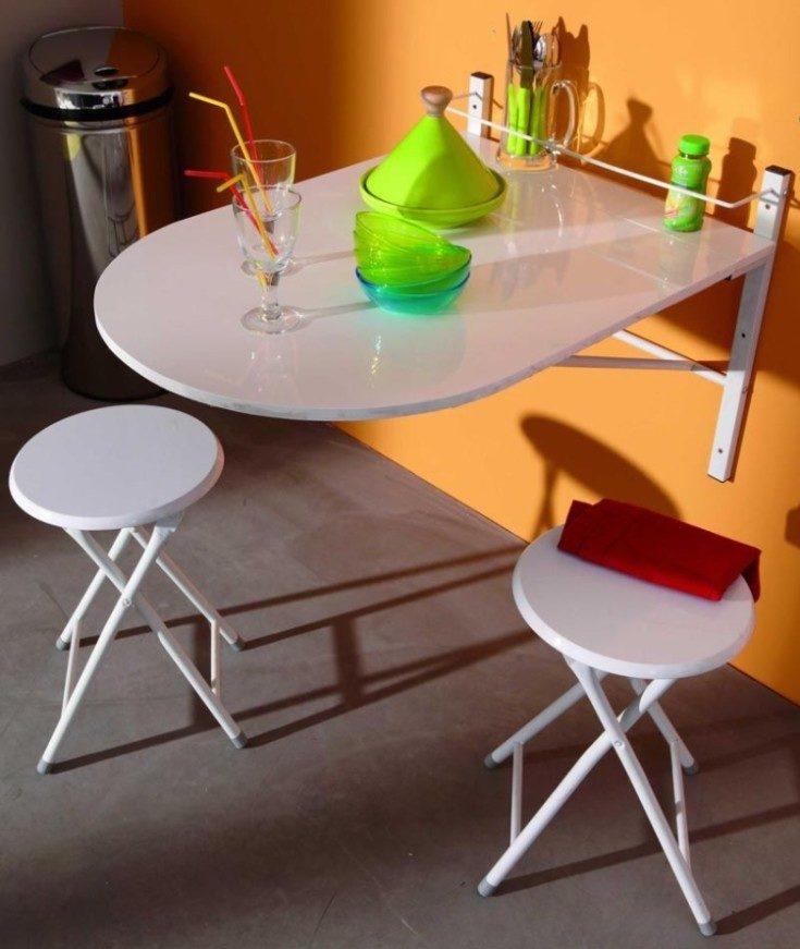 (+40 фото) Обеденный стол трансформер для маленькой кухни
