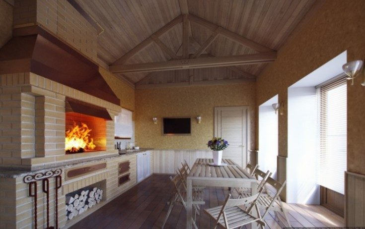 (+81 фото) Комната отдыха в бане на даче