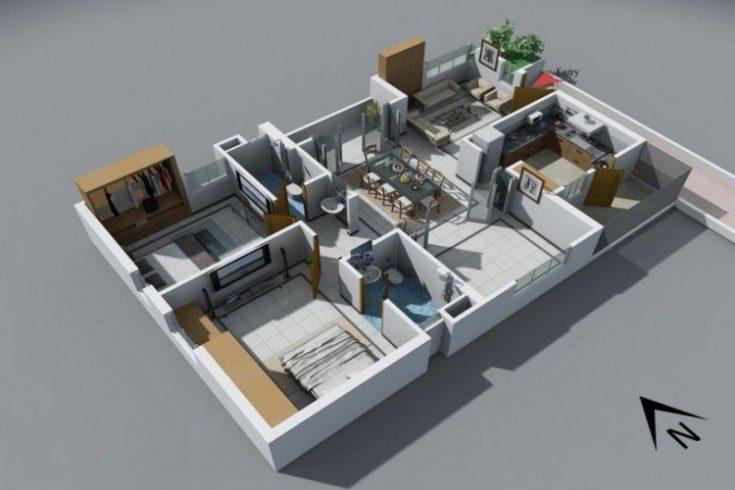 (+51 фото) Схемы и фото планировок 5х комнатных квартир удачные решения