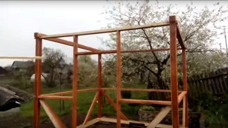 Беседки для дачи из дерева своими руками