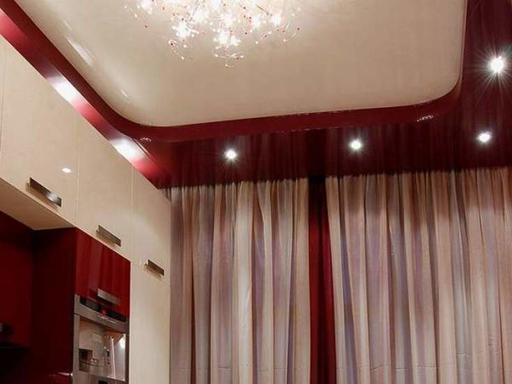 Потолочные карнизы в интерьере для натяжных потолков фото