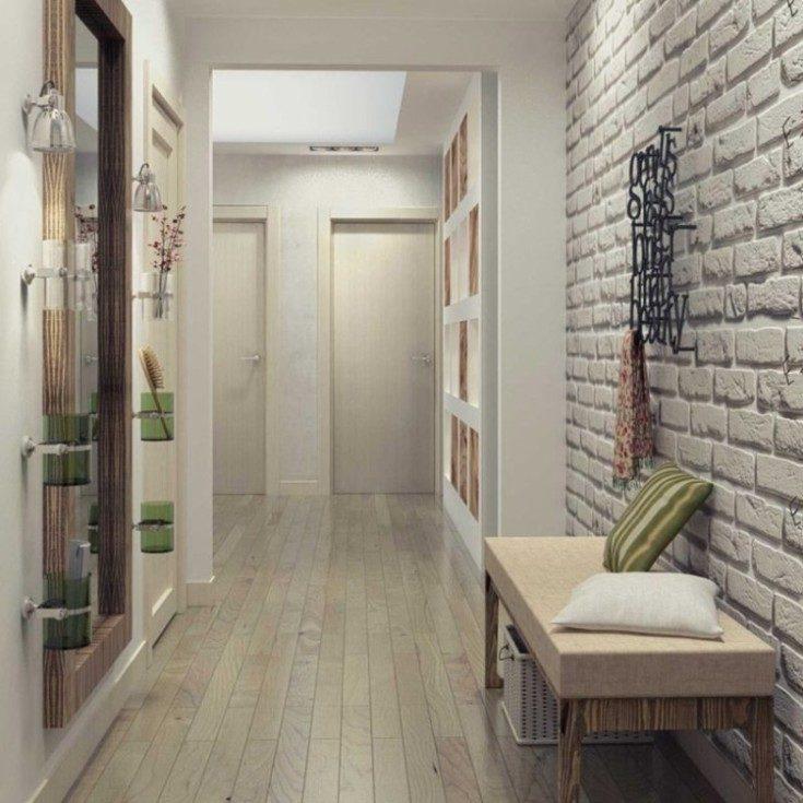 Дизайн хрущёвки с обоями в коридоре 50 фото