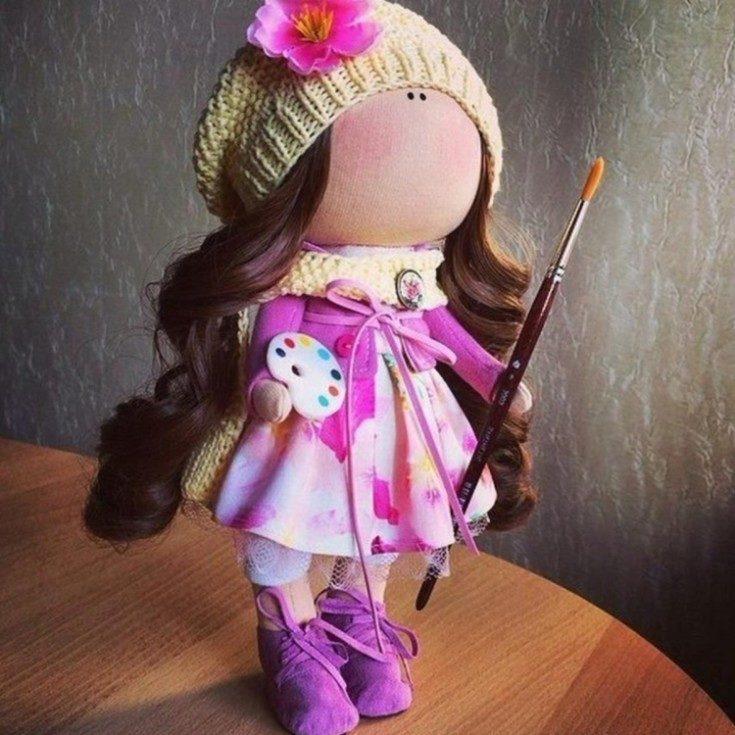 (+77 фото) Интерьерные куклы своими руками