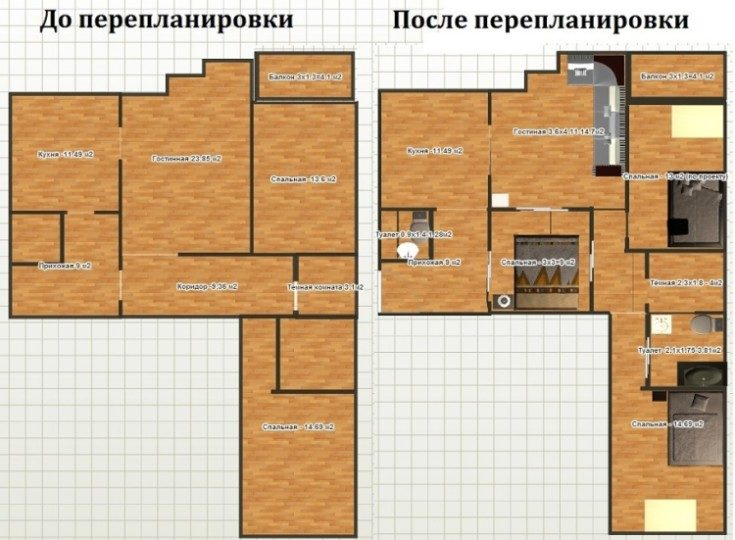 (+60 фото) Схемы и фото планировок 4х комнатных квартир удачные решения