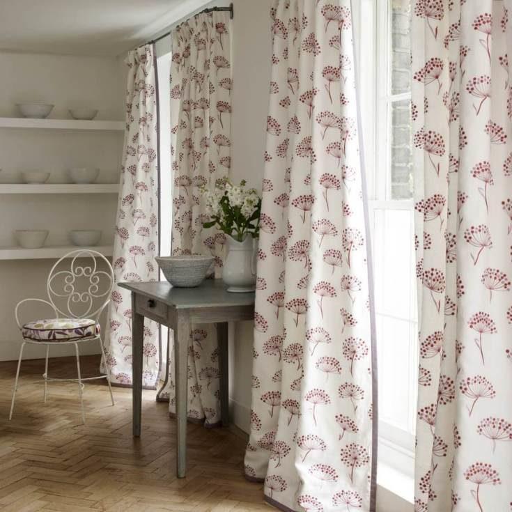 Льняные шторы в интерьере фото